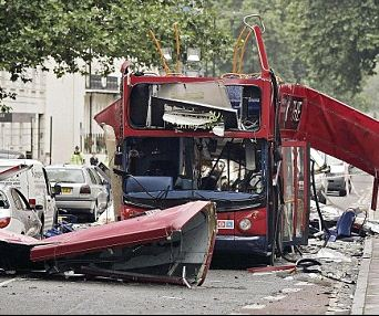 Bus bombed